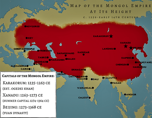 Map of the Mongol Empire