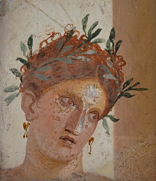 Woman with Garland of Olive Leaves, Herculaneum (by Carole Radatto)
