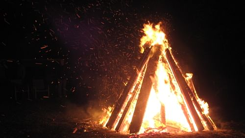 Bonfire on Guy Fawkes Day
