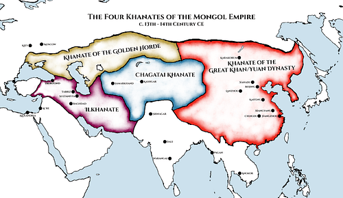 Four Khanates of the Mongol Empire