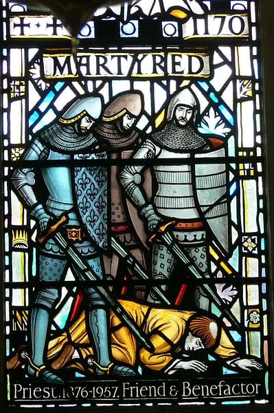 Martyrdom of Thomas Becket, St. David's Cathedral