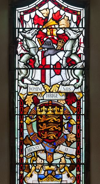 Coat of Arms of Henry II of England, Derry Guildhall