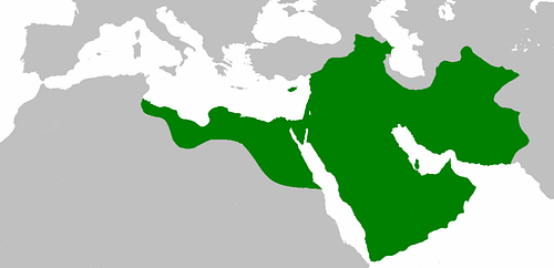 Map of the Rashidun Caliphate