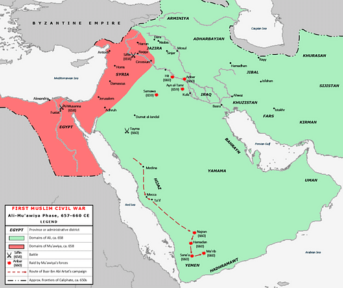 Map of the First Fitna