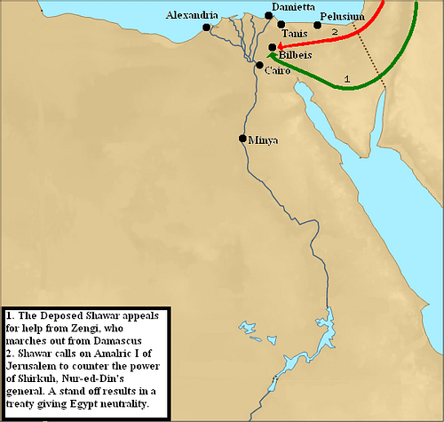 Second Crusader Invasion of Egypt, 1164 CE