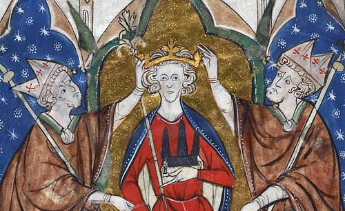 Coronation of Henry III of England (by Unknown Artist, Public Domain)