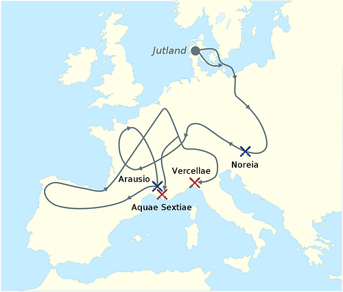 Migration of the Cimbri