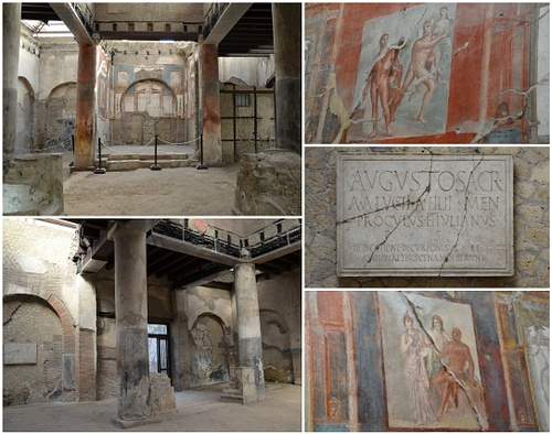 The so-called College of the Augustales in Herculaneum
