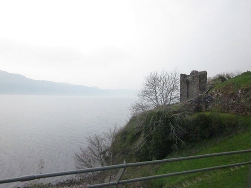 Urquhart Castle Tower on Loch Ness
