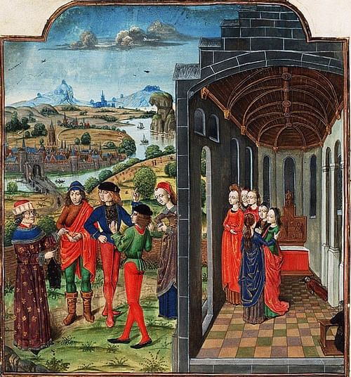 Giovanni Boccaccio & Florentines Who Have Fled from the Plague