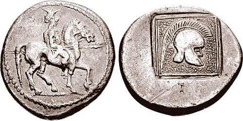 Tetradrachm Minted during the Reign of Alexander I of Macedon (by CNG Coins, CC BY-SA)