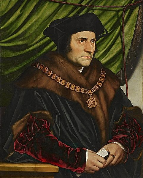 Sir Thomas More as Lord Chancellor (by Hans Holbein, Public Domain)