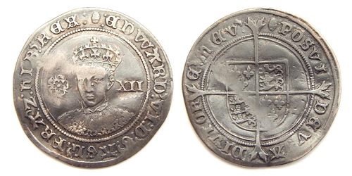 Silver Shilling of Edward VI of England