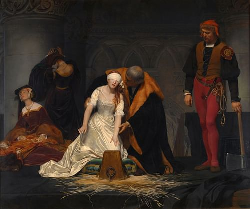 The Execution of Lady Jane Grey (by Paul Delaroche, Public Domain)