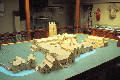 Model of Fountains Abbey