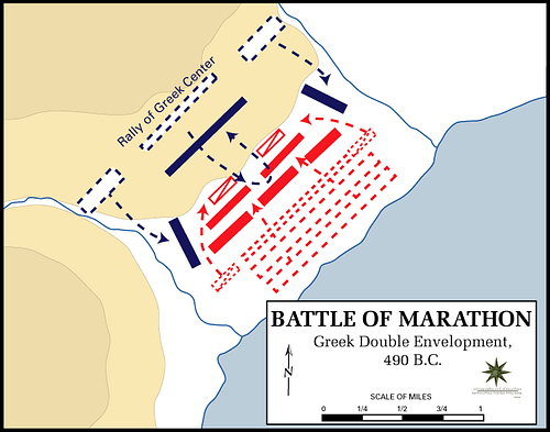Battle of Marathon, 490 BCE (by Dept. of History, US Military Academy, CC BY-SA)