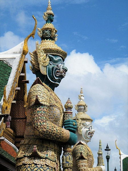 Yaksha or Demon Guardians at the Temple of the Emerald Buddha