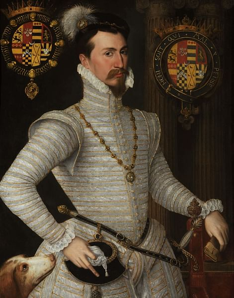 Robert Dudley, 1st Earl of Leicester (by Unknown Artist, Public Domain)