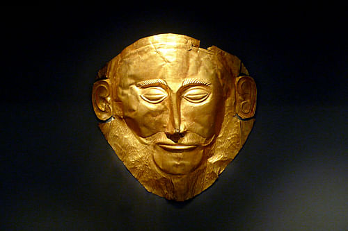 Death Mask of Agamemnon (by Xuan Che, CC BY)