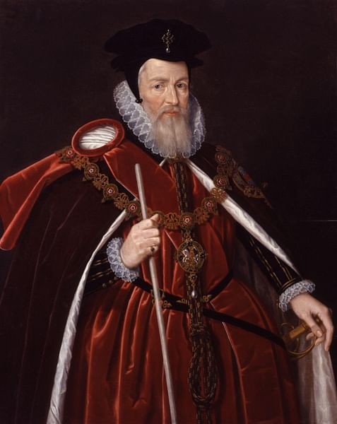 William Cecil, Lord Burghley (by Unknown Artist, Public Domain)