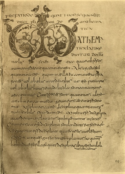 Page from the Etymologiae (by Πυλαιμένης, Public Domain)