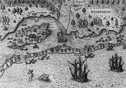 Arrival of the Roanoke Island Colonists