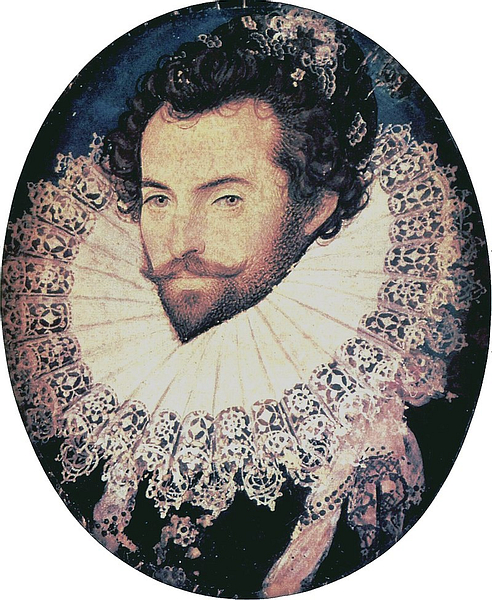 Sir Walter Raleigh by Hilliard