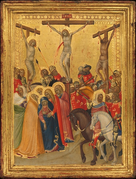 The Crucifixion by Lorenzetti