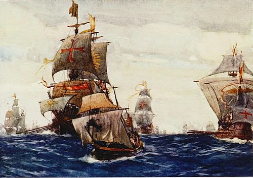 Elizabethan Royal Navy (by Unknown Artist, Public Domain)