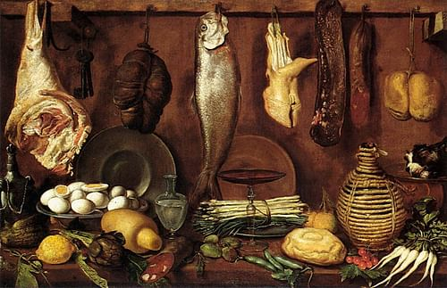 16th Century CE Kitchen Still-life