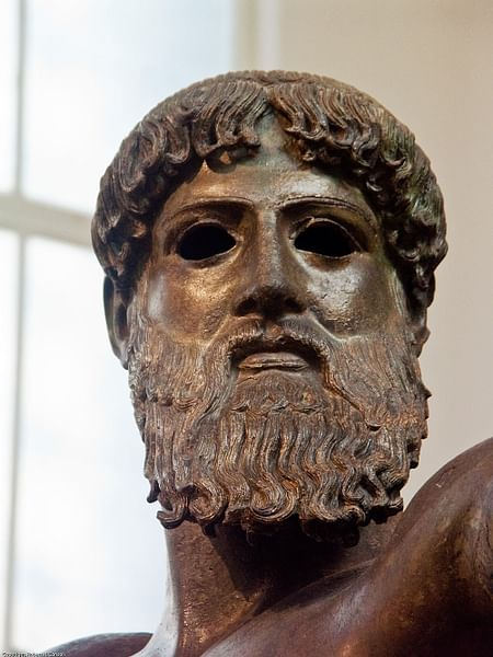 Head of Zeus, Artemesium Bronze (by Robert H.Consoli, Copyright)
