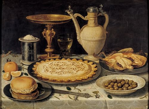 Food Still-life by Clara Peeters