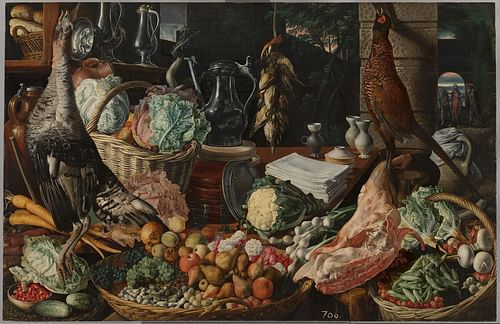 Kitchen Still-life by Joachim Beuckelaer