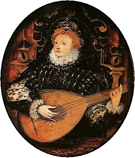 Elizabeth I Playing the Lute