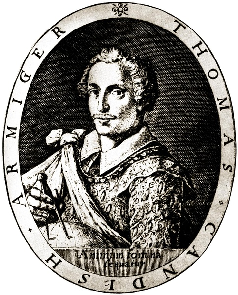 Thomas Cavendish (by Unknown Artist, Public Domain)