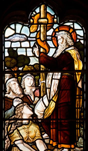 Moses and the Fiery Serpent (by Lawrence OP, CC BY-NC-ND)