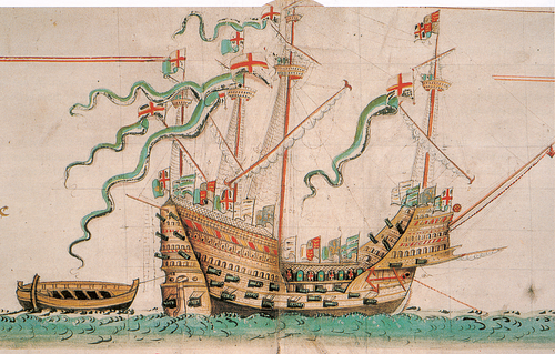 Mary Rose - Anthony Roll (by Gerry Bye, Public Domain)