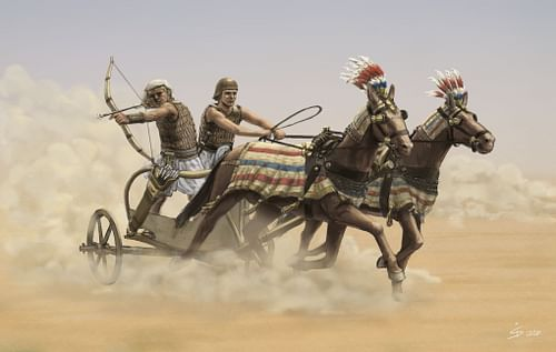 Egyptian War Chariot in Action (by Simon Seitz, CC BY-NC-SA)