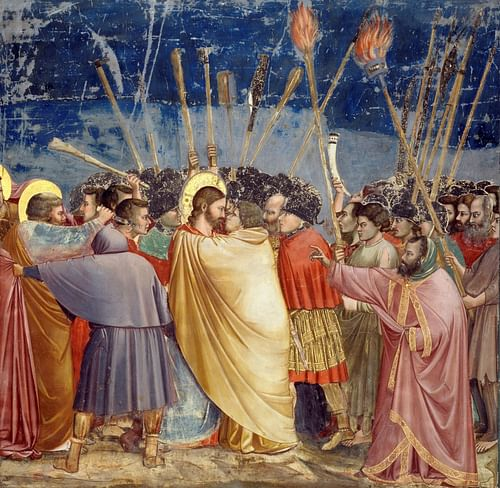 Kiss of Judas by Giotto (by Giotto, Public Domain)