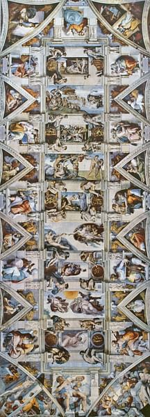 Sistine Chapel Ceiling by Michelangelo