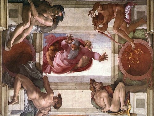 God Separating the Land from the Water, Sistine Chapel