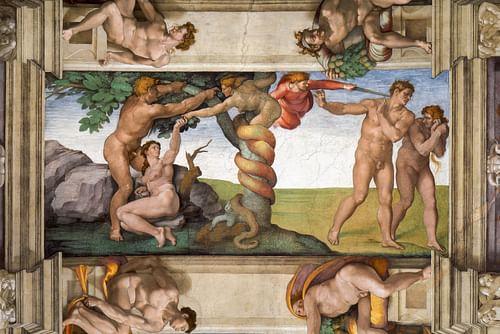 Temptation & Expulsion from Paradise, Sistine Chapel