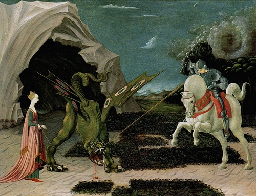 St. George & the Dragon by Uccello