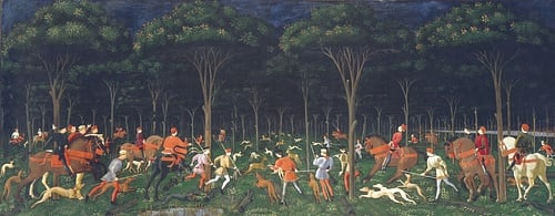 The Hunt by Uccello (by Web Gallery of Art, Public Domain)
