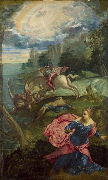 Saint George & the Dragon by Tintoretto