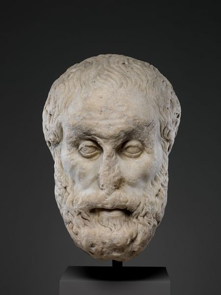 Marble Head of a Philosopher (by Metropolitan Museum of Art, Copyright)