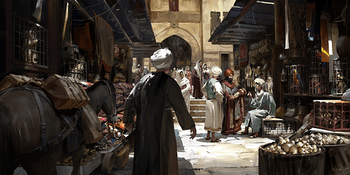 Market in Constantinople (Artist's Impression)