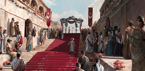 Artist's Impression of a Roman Wedding