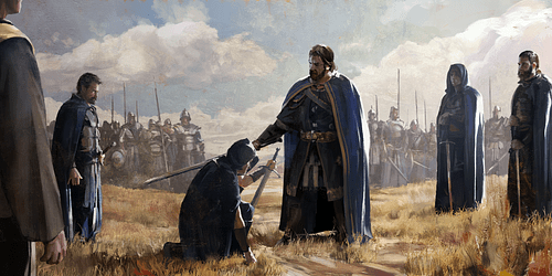 Soldado Medieval Sendo Cavaleiros