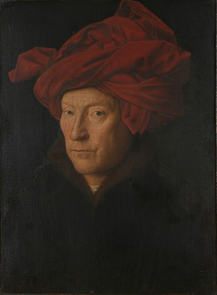 Man in a Red Turban by Jan van Eyck (by The Yorck Project, Public Domain)